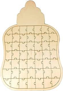 GOMYIE Unique Wedding Guest Book Alternative Wooden Jigsaw Wedding Guestbook(JM01649)