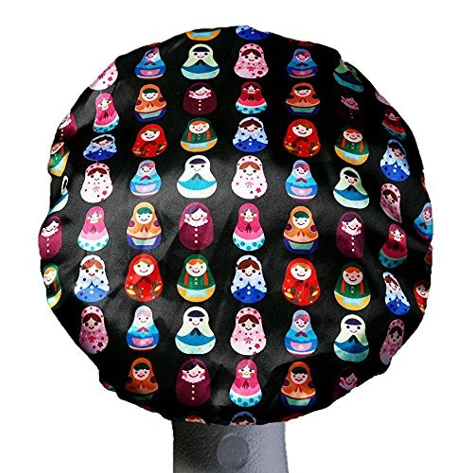Premium Shower Caps - Triple Layer With extra Protection - Saves The Blow Out - Bath Cap For Women - Reusable - Durable - Babushka Design For Adults