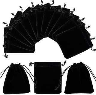 PH PandaHall 50 Bags Black Velvet Jewelry Pouches Bags Drawstring Bags Gift Bags 12x10cm