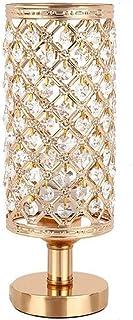 WHSS Élégamment Décorée Lampe De Table De Cristal Salon d'or,Noble Et Lampe en Cristal De Table Lampshade De Haute Qualit...