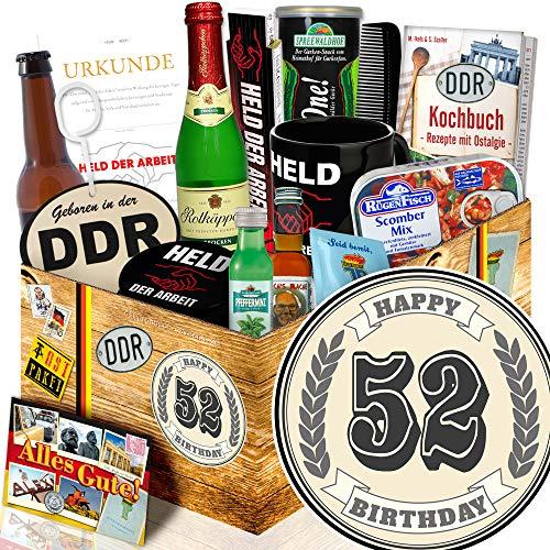 Geschenk zum 52. / Geschenke 52 Geburtstag Frauen / Männer Box DDR