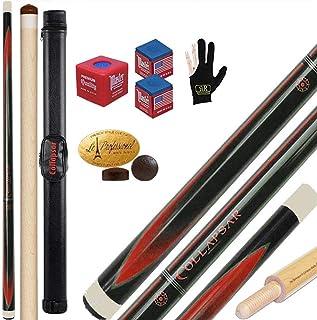 Winnfy Stecche da Biliardo da 2 Pezzi in Fibra di Carbonio 57 Pollici Stecche da Biliardo Professionali Durevoli Forniture per Canne da Snooker Nero