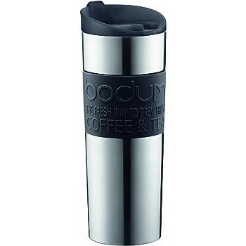 BODUM Travel Mug, 15 Ounce, Black