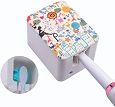 Deep UV Toothbrush Holder Case, Sarmocare Portable Toothbrush Sanitizer Wall Mount or Countertop Use Toothbrush Sterilizer for Travel and Home,Rechargeable Cleaner Organizer.3D Design.