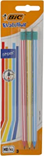 BIC Evolution Pencil Blister With Eraser, 3 Pieces