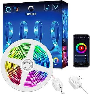 comprar comparacion Wi-Fi Tira LED RGB Alexa, Lumary Tira LED Smart 5M App Control, Funciona con Alexa,Google Home, Sync con Música,Multicolor...