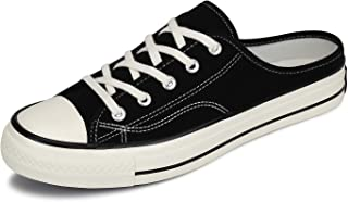 Mishansha Women's Canvas Shoes Men Casual Low Top Sneaker Fashion Lace Up Flats for Walking