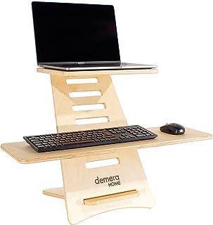 Standing desk - Supporto per pc e laptop regolabile - in legno