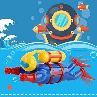 PULABO nadadores de buceo, juguete de baño de bebé, viento para arriba reloj de mar niños juguete excelente calidad y segu...