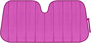 Motor Trend BDK Front Windshield Shade-Accordion Folding Auto Sunshade for Car Truck SUV-Blocks UV Rays Sun Visor Protector-Keeps Your Vehicle Cool-58 x 24 Inch, Pink Glitter (AS-2511-HP)