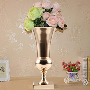 5 x Large Rose Gold Plated Luxury Vase Display Urn Table Centrepiece 50cm