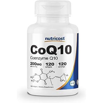 Nutricost コエンザイムQ10(CoQ10)200mg、120ソフトカプセル
