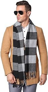 YJH Mens Winter Cashmere Feel Scarf Soft Elegant Long Fashion Wrap Scarves