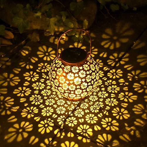 Osaloe Linterna Solar Exterior, Lámpara de Jardín de impermeable IP44, Iluminación Decorativa Solar LED, Luces Solares Inalámbrico para Fiesta, Parque, Boda, Senderos, Patio, Navidad