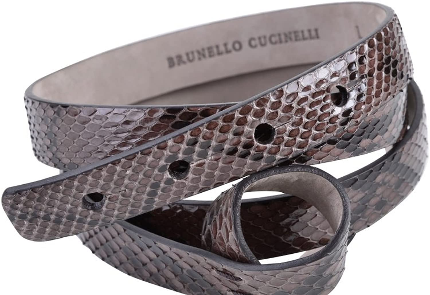 Brunello Cucinelli Belt Women's Darkbrown Snakeskin M