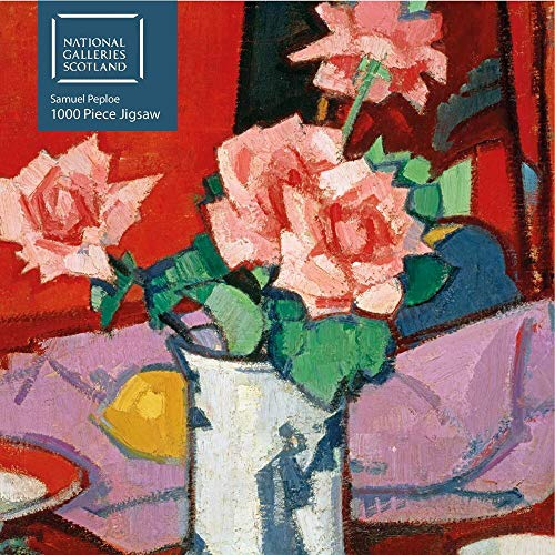 Adult Jigsaw Puzzle National Galleries Scotland - Samuel Peploe: Pink Roses, Chinese Vase: 1000-piece Jigsaw Puzzles
