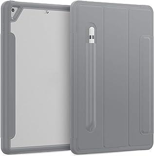 QGGESY Fundas duras para Tablets,Plegable Soporte Protectora TPU Cubierta con Portalápiz(Auto-Sueño/Estela), Adecuado para...