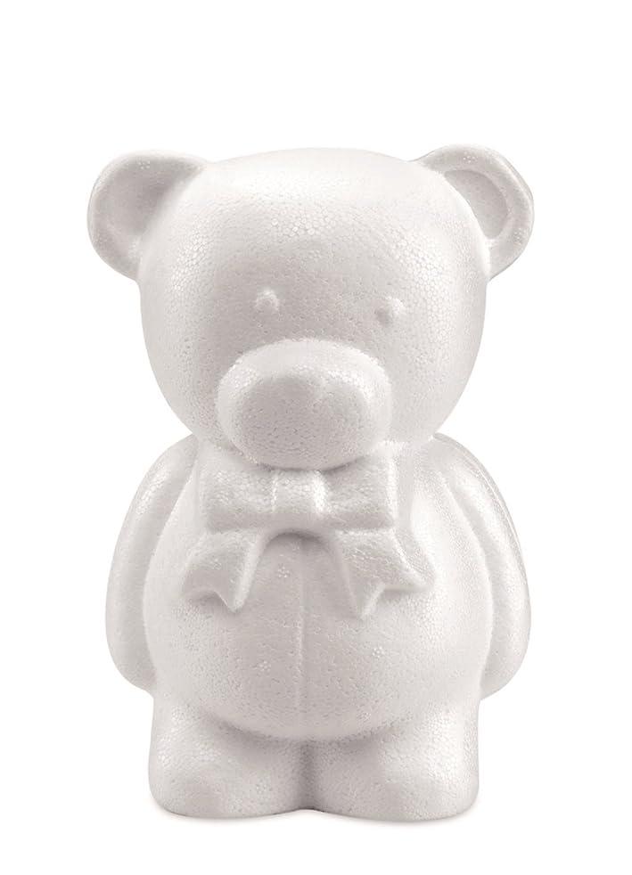Glorex 3803?748?6?Styrofoam Bear, White, 14?x 7?x 10, 5?cm