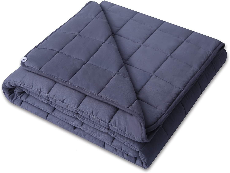 Bestlaixing Weighted Blanket 3.0 More Smaller Pockets Heavy Blanket 100% Cotton Weighted Blankets for Adults Bed Women Men (60''80'' 15lbs)