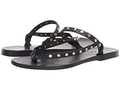 Ancient Greek Sandals Mirsini Nails (Black Vachetta) Women