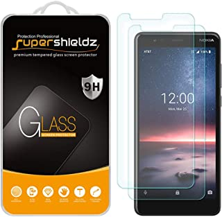 (2 Pack) Supershieldz for Nokia 3.1 A (AT&T) (Not Fit for Nokia 3.1) Tempered Glass Screen Protector, Anti Scratch, Bubble Free