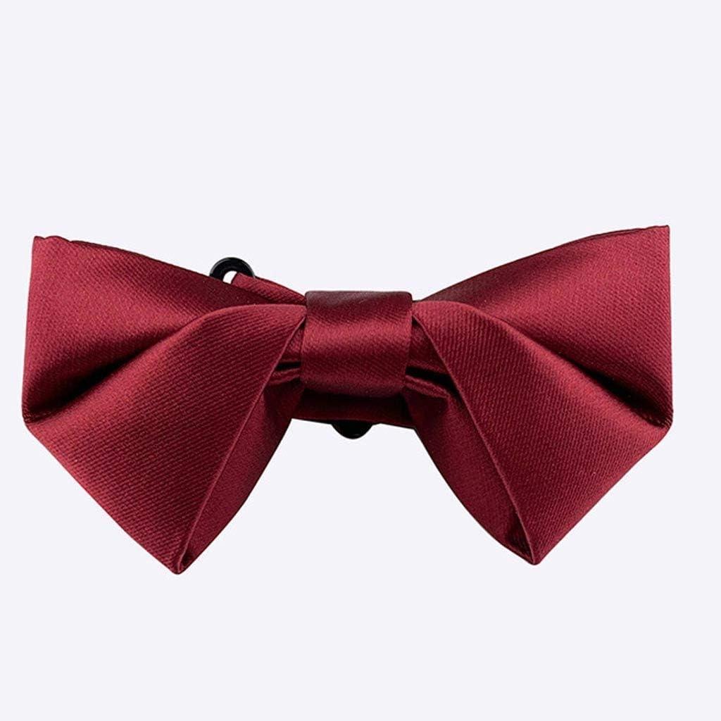 ZZABC NSLDXZPJ Black Bow Tie Brand new Solid Color Ties Marriage Fashion Male
