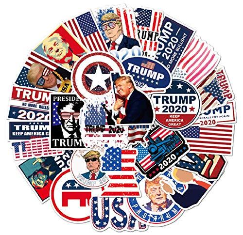 QIroseonly Donald Trump Stickers 50PCS Trump 2020 Election Make America Great Again Vinyl Decal Waterproof Stickers (Trump)