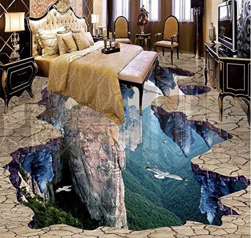 Suelo de vinilo personalizado para sala de estar, baño, PVC, papel pintado impermeable para suelo, pintura de pared, decoración, baldosas de suelo-350 * 275cm