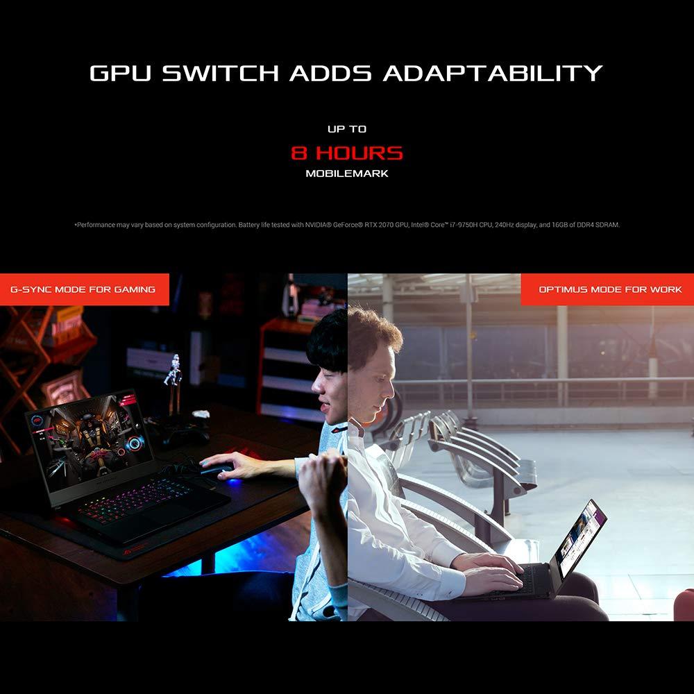 ASUS ROG Zephyrus S15 GX502LXS Full HD 300 Hz 15.6 Inch Gaming Laptop (Intel i7-10875H, NVIDIA GeForce RTX 2080 Super 8 GB, 32 GB RAM, 1TB M.2 NVMe PCIe 3.0, Per Key RGB, Windows 10) ,Brushed Black