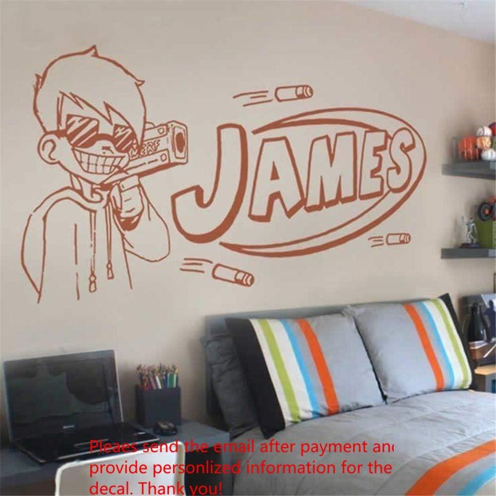 Guns Pistol GUY Men Kids Game Home Wall Art Sticker Vinyl Decals Transfer Mural