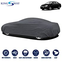 Kingsway Dust Proof Car Body Cover For Volkswagen Jetta (Model Year : 2006-2011) (Grey Matty, Triple Stitched)