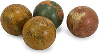 IMAX 5555-4 Antique-Finish Globes - Set of 4