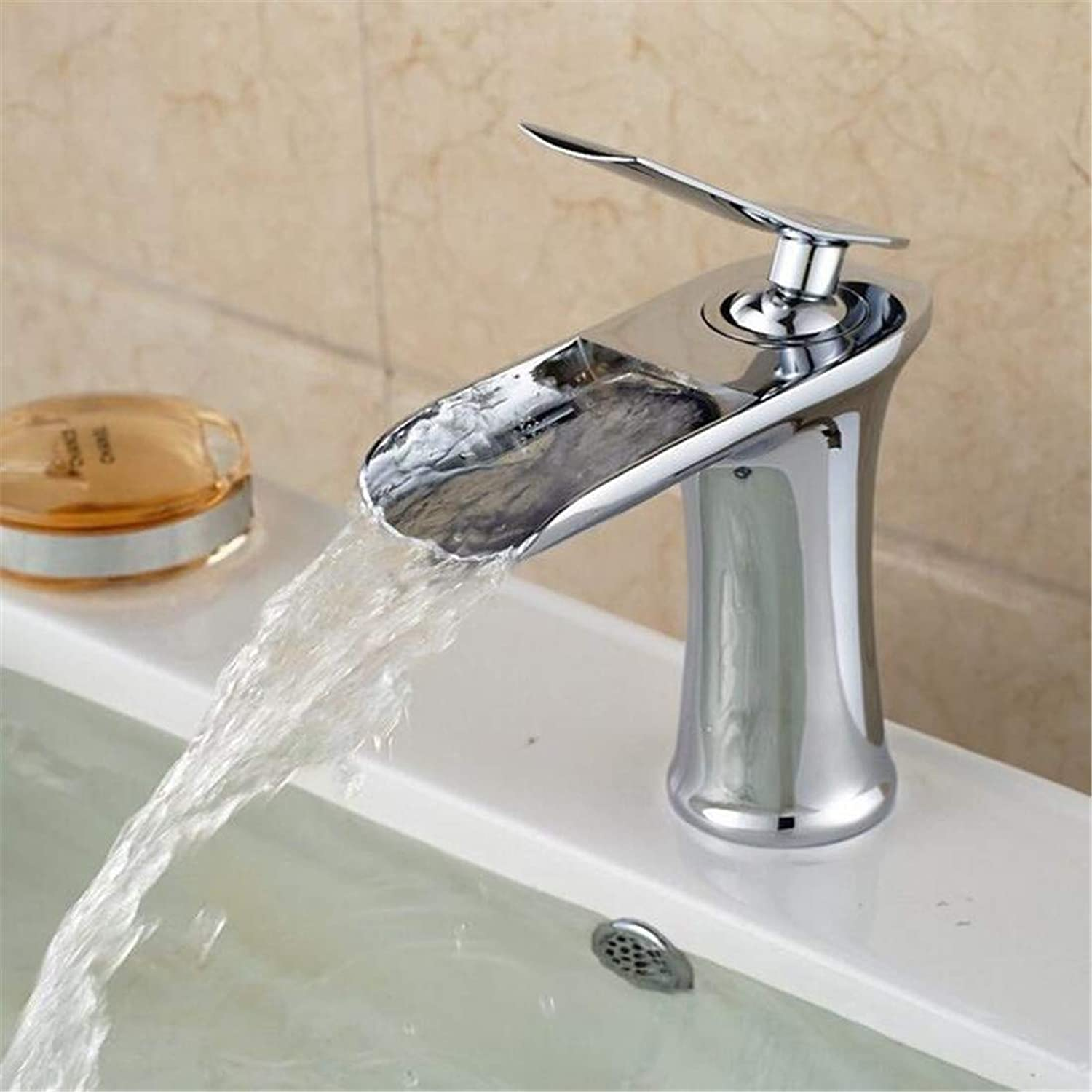 Chrome Kitchen Sink Tapchorme Polish Basin Tap Deck Mounted Bathroom Vanity Sink Tap Hot&Cold Faucet FreeShipping