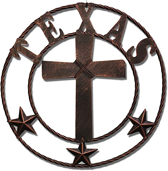 WIPHANY Texas Metal Barn Star Vintage Country Western Home Decor Cross The Lone Star