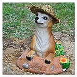 CNZXCO Erdmännchen Gartenfigur, Gartenzwerg lustig, Gartenfiguren für außen, Kunsthandwerk Dekoration, Gartenlandschaft Garten Skulptur Dekoration im Freien, Simulationstier, Als Geschenk für einen Ga