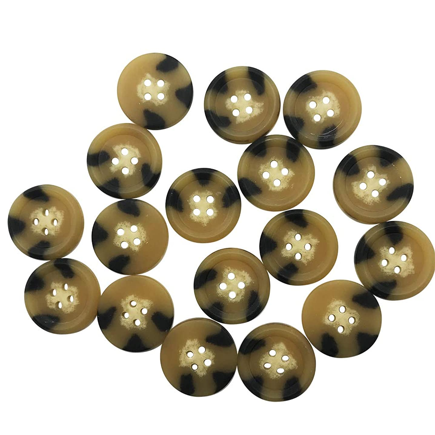 PETMALL 20pcs 30mm Buttons/Coat Buttons/Beige Buttons/Buttons for Crafts Sewing Coat Jacket/Blazer Buttons, Q2497