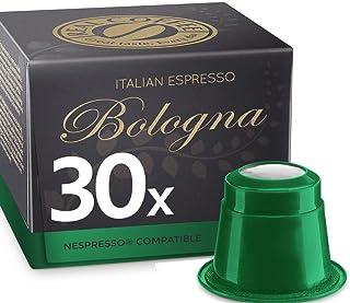 Organic Italian Espresso Bologna by REAL COFFEE, Denmark, 30 Capsules, Nespresso Compatible