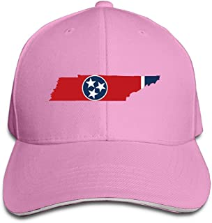 Flag Map Of Tennessee Adjustable Snapback Caps Unisex Sandwich Hats