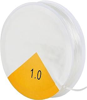 TRIXES Bobine de 8m de Fil Extensible élastique Transparent de 1mm pour Fabrication de Bijoux en Perles