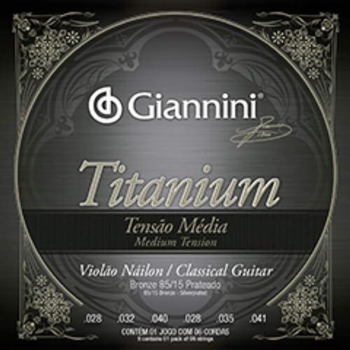 Encordoamento Giannini Titanium para Violão Nylon GENWTM