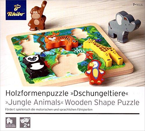 TCM Tchibo Holzformenpuzzle Dschungeltiere