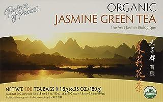 Prince of Peace Organic Jasmine Green Tea, 100 Tea Bags – 100% Organic Green Tea – Unsweetened Green Tea – Lower Caffeine ...