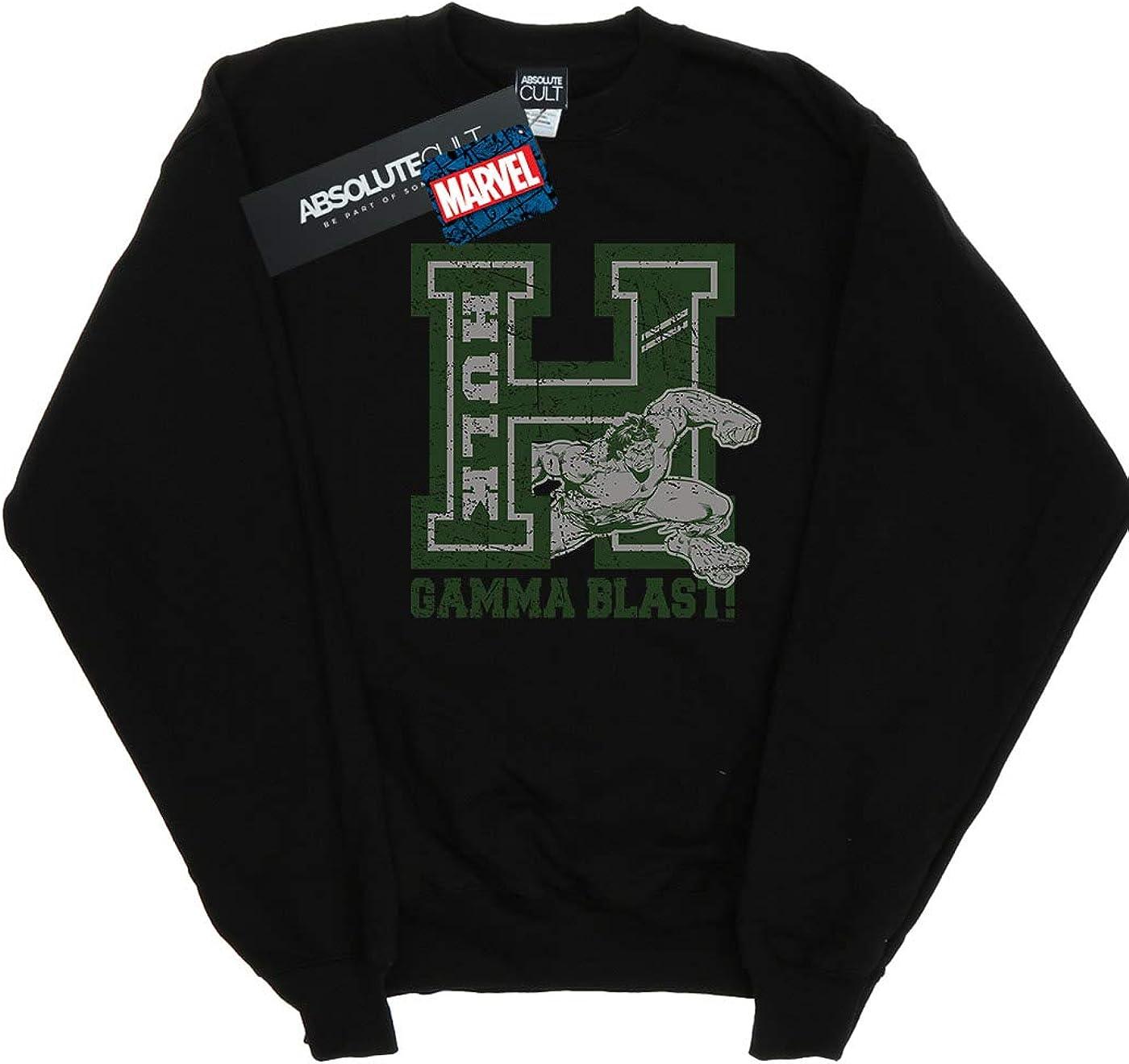 Marvel Homme Hulk Gamma Blast Sweat-Shirt Noir