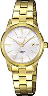 Citizen Women White Dial Stainless Steel Band Watch - Eu6072-56D