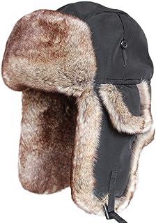 Brcus Women Russian Ushanka Trapper Pilot Aviator Cap Winter Windproof Ski Hat