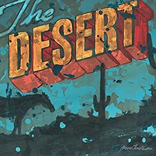 The Desert - Twilight Sunset Horse and Desert Western Rustic Wall Art by Aaron Christensen Stretched Canvas Reproduction-Artist Direct. Multiple sizes listed. Made in my Portland, OR. studio.