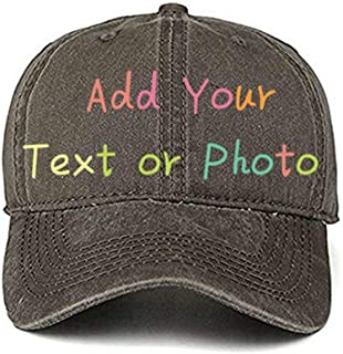 Custom Cowboy Hat DIY Baseball Cap Outdoor Visor Hat Trucker Cap(Adjusted/Black/Adult)