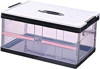 LANHA Pliable Boîte de Rangement, Boîtes de Rangement Transparentes en PP 50L avec couvercles bac de Rangement à la Maison...