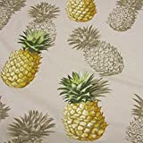 Stoff Meterware Baumwolle natur Ananas groß Deko