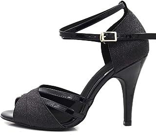 Damesschoenen Zwart Hoge Hakken Schoenen Ballroom Latijns Salsa Bachata Performance Dance Dancing Shoes